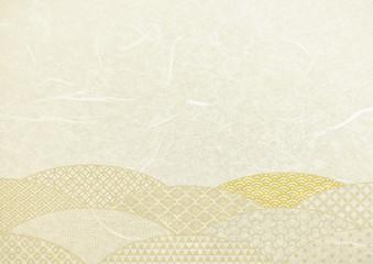 ベージュ色和紙パターンテクスチャ背景素材