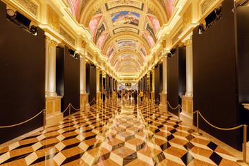 Beautiful corridor leading to casino of the Venetian Macao