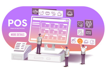 Restaurant management with P.O.S technology(Point of Sale System).