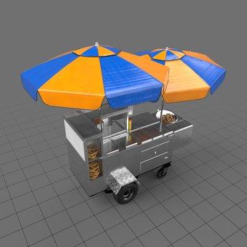 Hot dog and pretzel stand