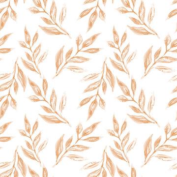 Leaves Seamless Pattern.