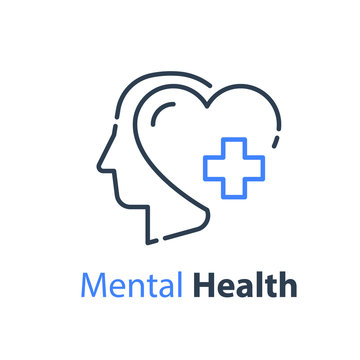 Mental health, human head, psychological help, psychiatry concept
