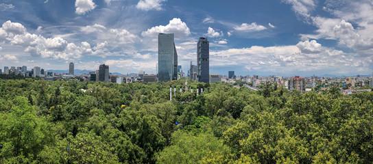 Mexico City skyline park Papier Peint