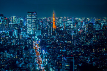Photo sur Aluminium Tokyo 渋谷から見た夜の東京 ~ Night view of JAPAN