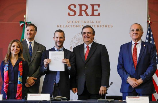 Signing of a letter of interest to support critical energy Infrastructure in Southern Mexico, in Mexico City
