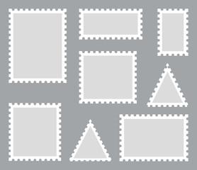 Postage stamp set. Vector illustration