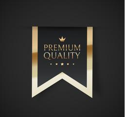Premium quality vector badges. Luxury black labels. Vector illustration