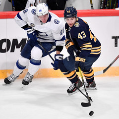 NHL Global Series match between Tampa Bay Lightning and Buffalo Sabres at Globe Arena in Stockholm