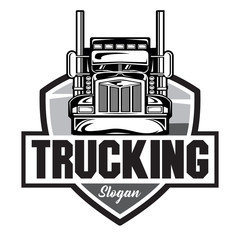Truck Company Emblem logo, Truck Company Logo