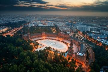 Seville Plaza de Espana aerial view