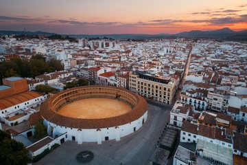 Plaza de Toros de Ronda aerial view