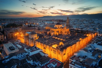 Wall Mural - The Mosque–Cathedral of Córdoba aerial view