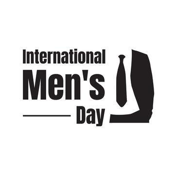 International Men's Day lettering Vector graphic design