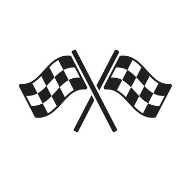 racing flag icon vector design illustration