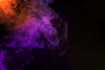 Garden Poster Smoke Abstract smoke isolated on black background,Rainbow powder