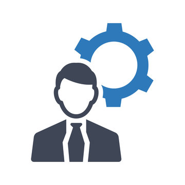 Business expert support icon