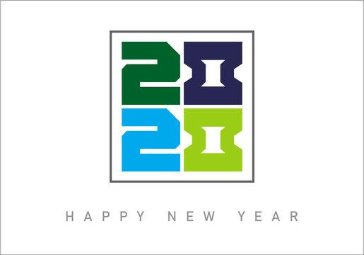 2020 HAPPY NEW YEAR TYPOGRAPHY