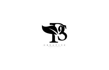 PS letter linked luxury flourishes ornate logotype