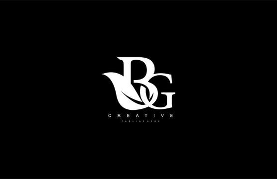 BG letter luxury flourishes ornate logotype
