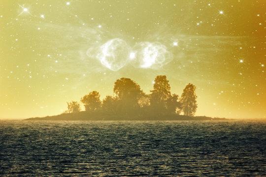 Fantasy magic Isle of the blessed