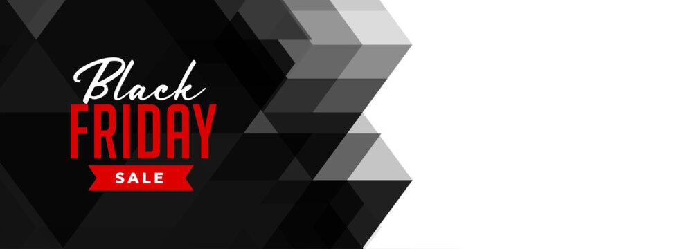 black friday geometric sale banner design