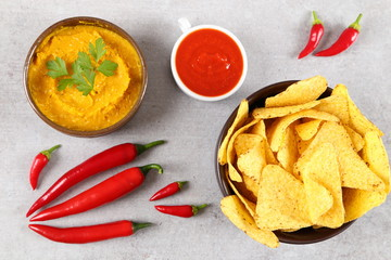 Mexican corn chips nachos.