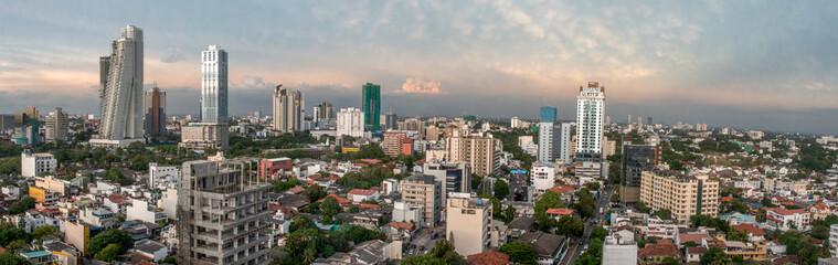 Skyline of Colombo Sri Lanka at twilight