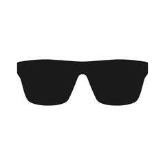 Sunglasses black vector silhouette icon. Sunglasses vintage style glyph symbol.