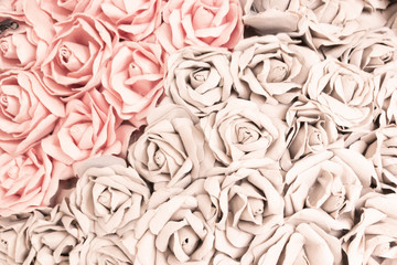 Rose handicraft from paper sort for use background vintage style