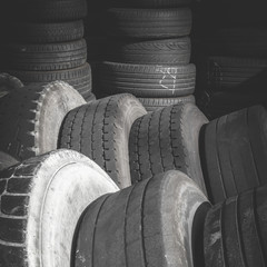 Old used tires