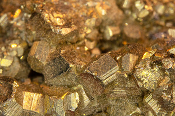 Pyrite Fools Gold Quartz Stone Close Up