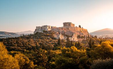 Parthenon bei Sonnenaufgang in Athen, Griechenland Fototapete