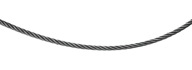 Steel hawser macro isolated on white