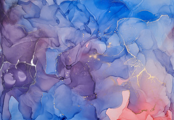 Abstract colorful background, wallpaper. Mixing acrylic paints. Modern art. Paint marble texture....