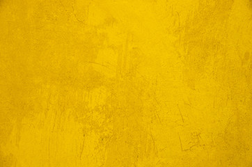 Wall grunge yellow background texture