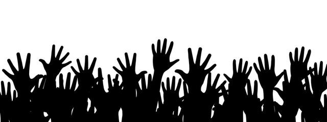 Set of hands, background with hands - stock vector
