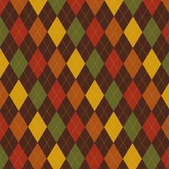 Retro Thanksgiving Fall argyle pattern in vector format.