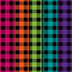 Buffalo plaid lumberjack tartan seamless pattern in vector format.