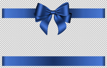 Blue bow and ribbon for chritmas and birthday decorations