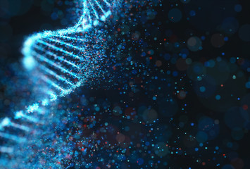 Colored Genetic Code DNA Molecule Structure