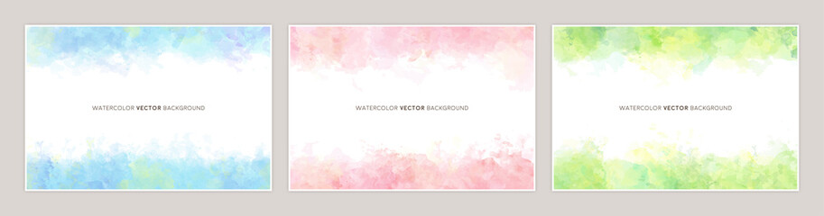 watercolor vetcor background Fotobehang