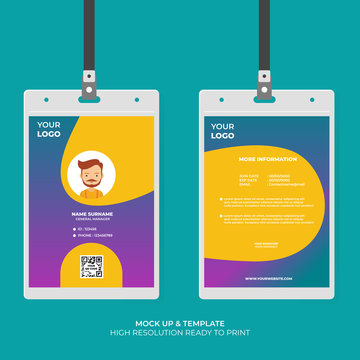 Business ID Card Template Design. Modern and futuristic style. Easy to Use and Customize. Ready to Print. Vector Illustration