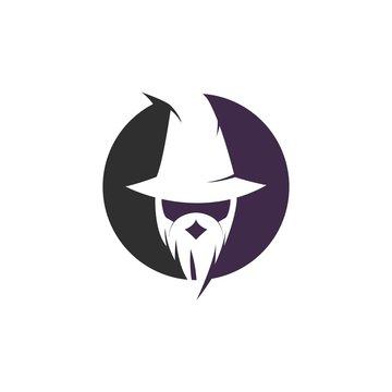 Wizard character logo vector template