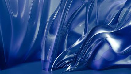 Fluid blue shapes in vertical waves