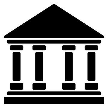 gz577 GrafikZeichnung - german: Universal Regierung Theater Museum Bank Gebäude Symbol. english: universal government theatre museum bank building icon. simple template - xxl square g8689