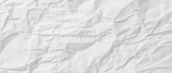 crumpled White paper, copy space for text abstract background blurred, Blank portrait mock-up, use banners products business cards to showcase your.