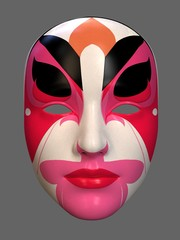 Mask in art style. 3d illustration