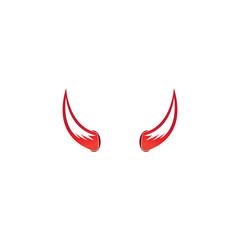 Devil horn vector icon logo design illustration template
