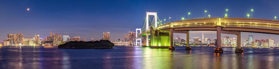 Photo sur Aluminium Tokyo Panorama view of Tokyo skyline in the evening. Tokyo city, Japan.
