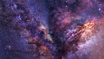 the milky way in outer space Fotomurales